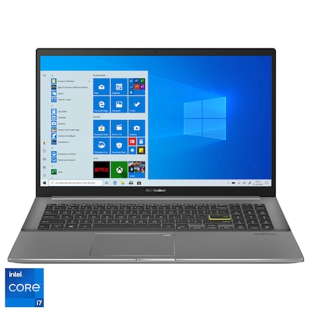 "Laptop ASUS VivoBook S15 S533EQ cu procesor Intel® Core™ i7-1165G7 pana la 4.70 GHz, 15.6"", Full HD, 8GB, 1TB SSD, NVIDIA® GeForce® MX350 2GB, Windows 10 Pro, Indie Black"
