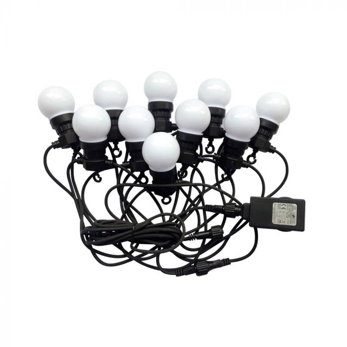 Fotografie Ghirlanda LED RGBY luminoasa V-TAC 7435, 10 becuri, 0.5W/bec, 300 lm, lumina colorata si galbena, IP44, 5m