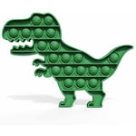 Jucarie dinozaur Pop Fidget Toy, Silicon, Verde