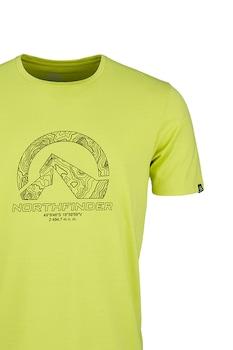 NORTHFINDER, Brice mintás sportpóló, Limezöld