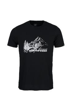 NORTHFINDER, Shane mintás sportpóló, Fekete/Fehér