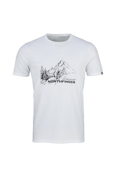 NORTHFINDER, Shane mintás sportpóló, Fehér/Fekete
