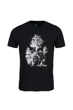 NORTHFINDER, Karter mintás póló, Fekete/Fehér
