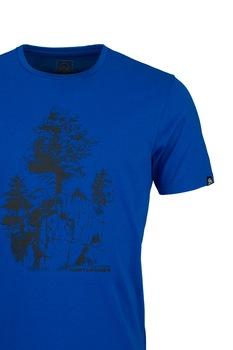 NORTHFINDER, Karter mintás póló, Királykék/Fekete