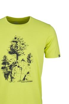 NORTHFINDER, Karter mintás póló, Pisztáciazöld/Fekete