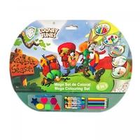 Детски комплект Looney Tunes EmonaMall W3811, рисувателен, 5в1, Многоцветен/Зелен