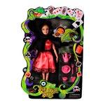 Кукла EmonaMall W2774, с чупещи се ръце, наметало и аксесоари, Многоцветен/Розов