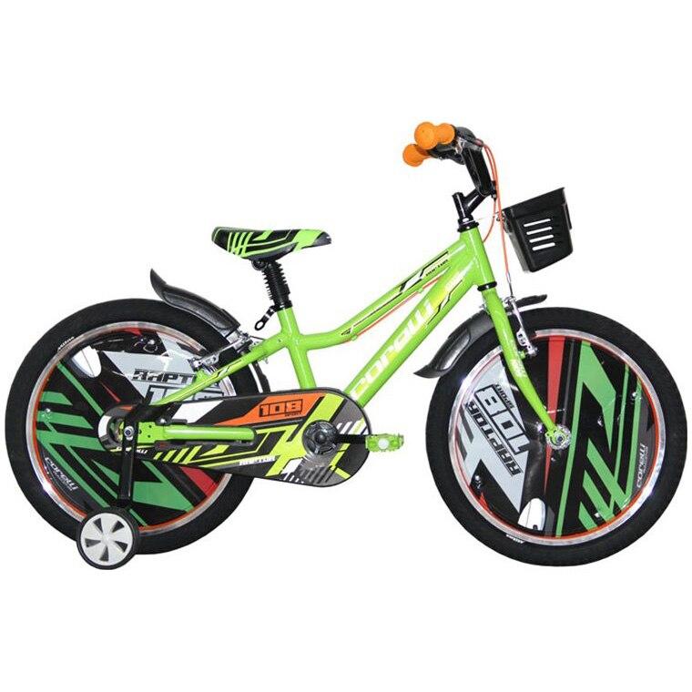 """Fotografie Bicicleta copii Corelli Raptor 20"""", single-speed, culoare verde, accesorii incluse"""