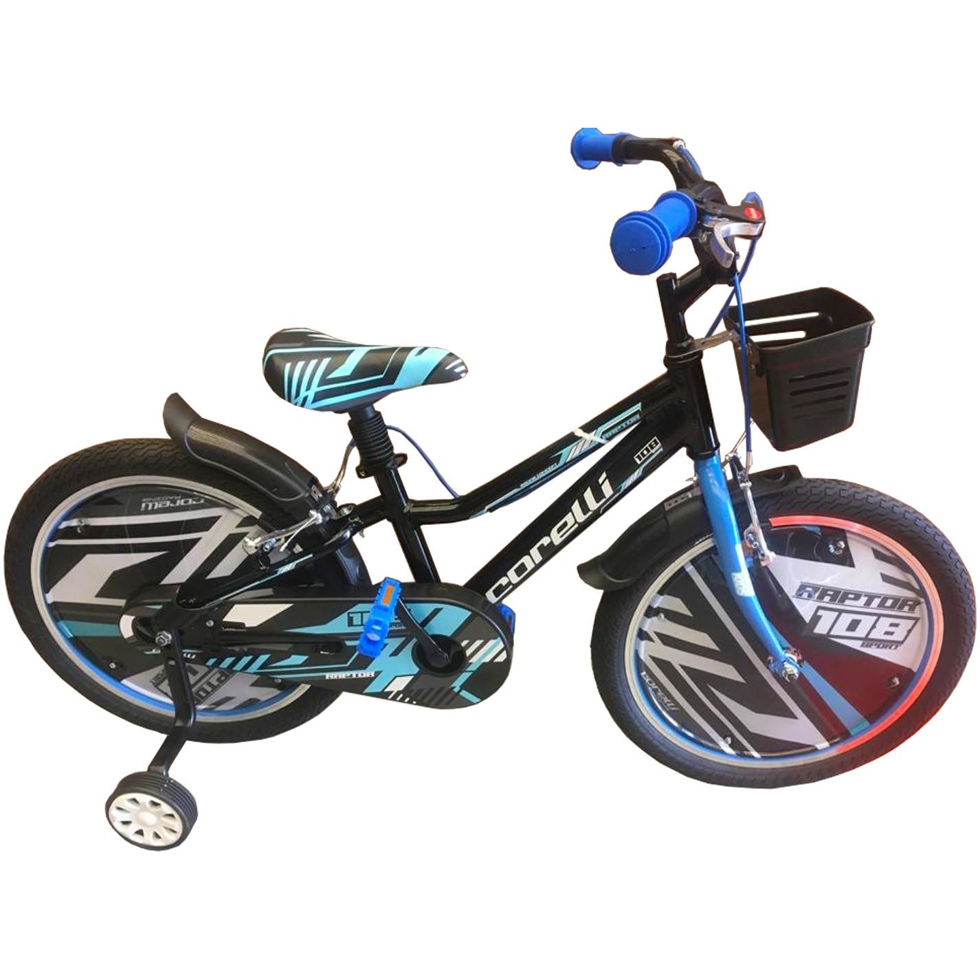 """Fotografie Bicicleta copii Corelli Raptor 20"""", single-speed, culoare negru-albastru, accesorii incluse"""