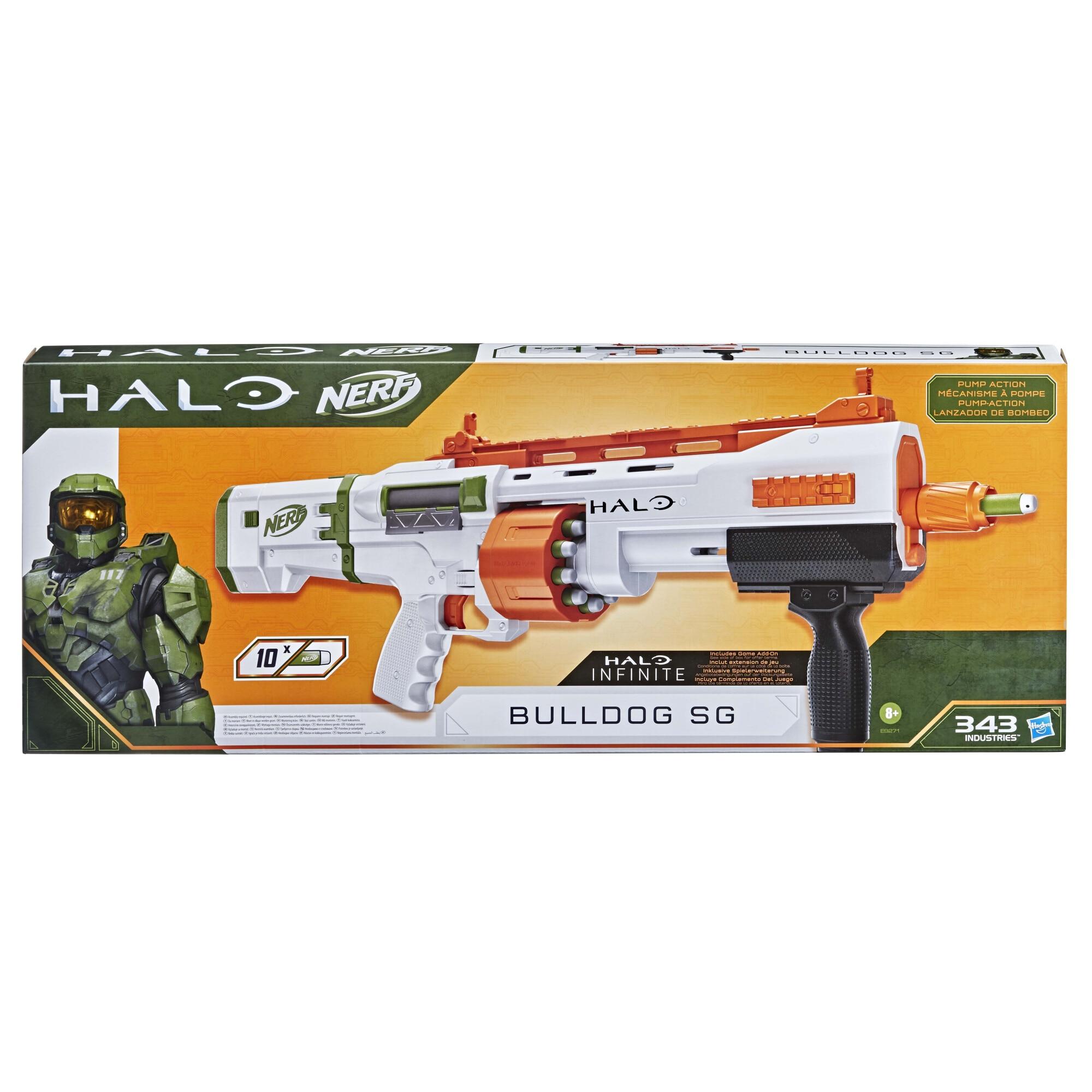 Fotografie Blaster Nerf - Halo Bulldog SG, 10 proiectile