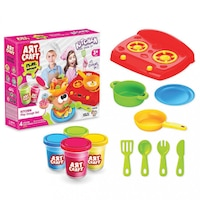 Детски моделин Art Craft Kitchen Dough Set EmonaMall W3799, 12 части, 224 грама, Многоцветен/Розов