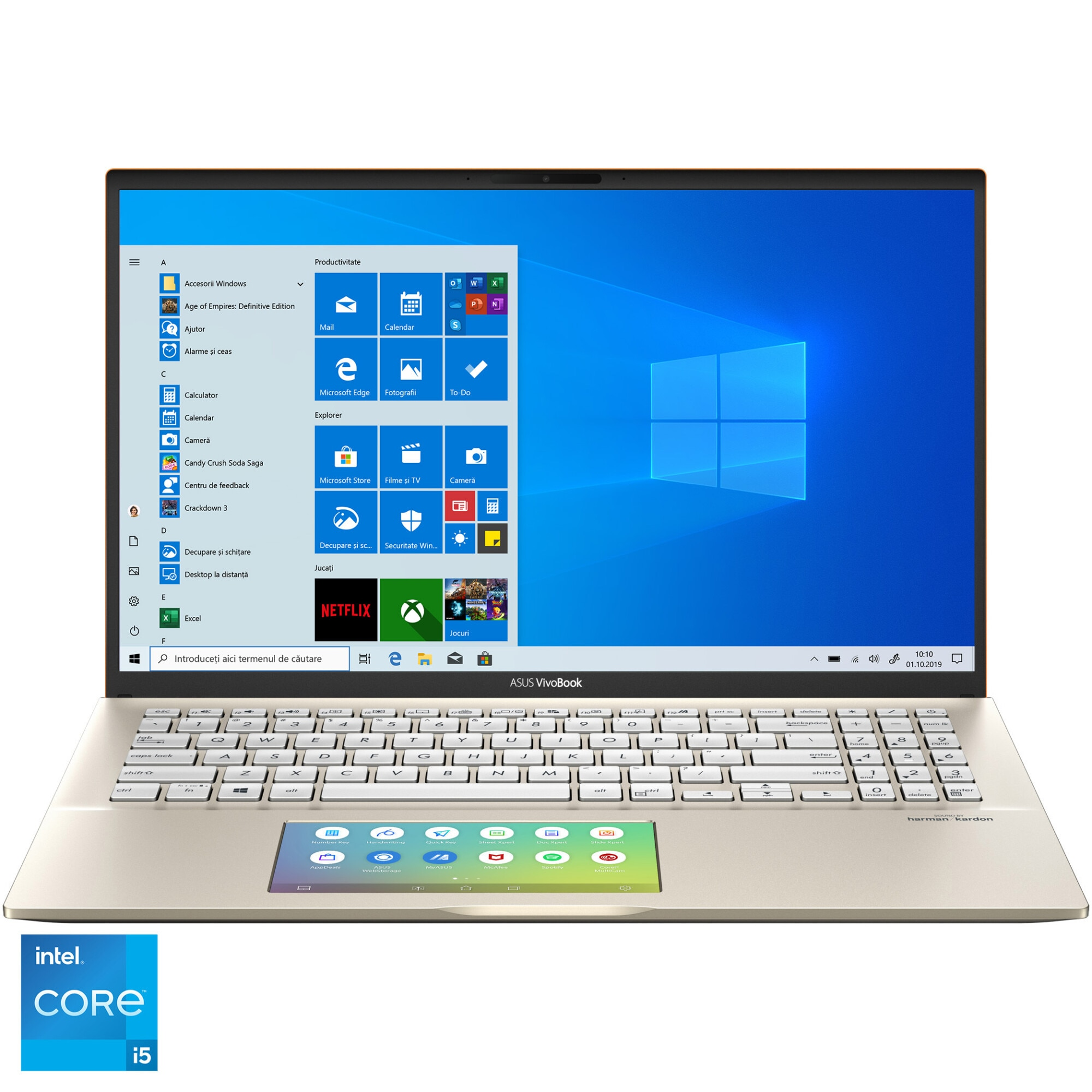 "Fotografie Laptop ASUS VivoBook S15 S532EQ cu procesor Intel® Core™ i5-1135G7 pana la 4.20 GHz, 15.6"", Full HD, 8GB, 512GB SSD, NVIDIA® GeForce® MX350 2GB, Windows 10 Home, Moss Green"