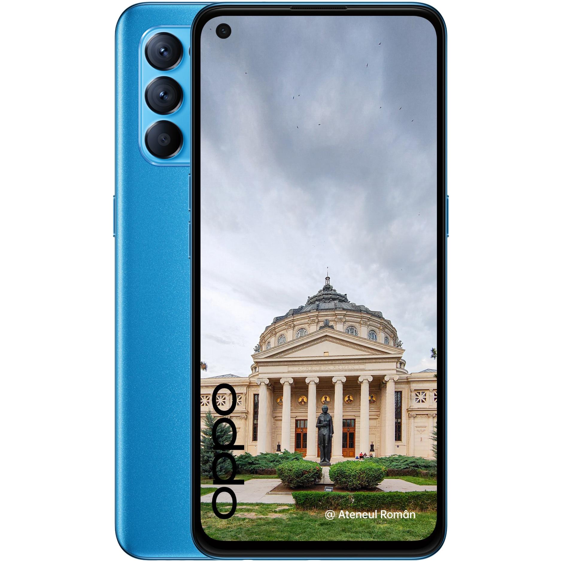 Fotografie Telefon mobil Oppo Reno 5, Dual SIM, 128GB, 8GB RAM, 5G, Astral Blue