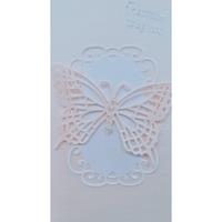 Картичка с пеперуда - розова