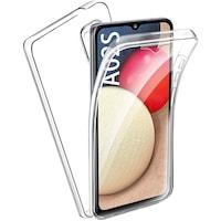 Силиконов калъф Forcell Samsung Galaxy A02s, Full Face 360 Кейс, Прозрачен