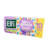 Hartie Igienica Elfi Family cu Parfum de Lavanda, 3 Straturi, 10 Role/Bax