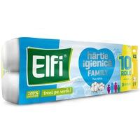 Hartie Igienica Elfi Family Pure White, 3 Straturi, 10 Role/Bax