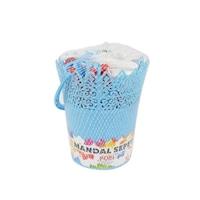 Műanyag kosár ,15 csipesz-akasztó, műanyag , Kék