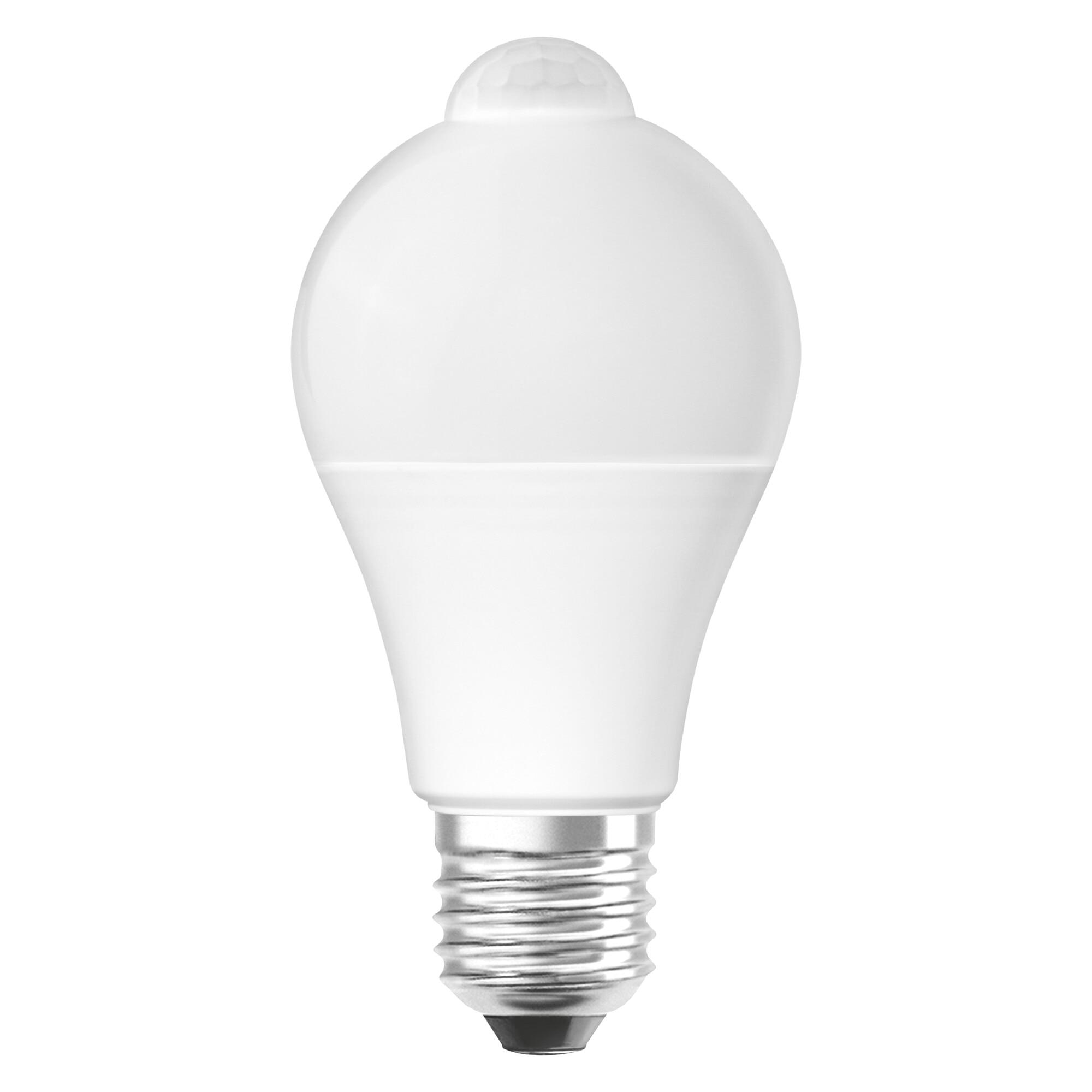 Fotografie Bec LED Osram LED STAR+ A75, cu senzor de miscare, E27, 11W (75W), 1055 lm, lumina calda (2700K), A+
