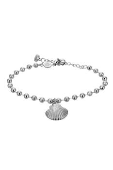Amelia Parker, Fonott karkötő kagylós részlettel, Ezüstszín
