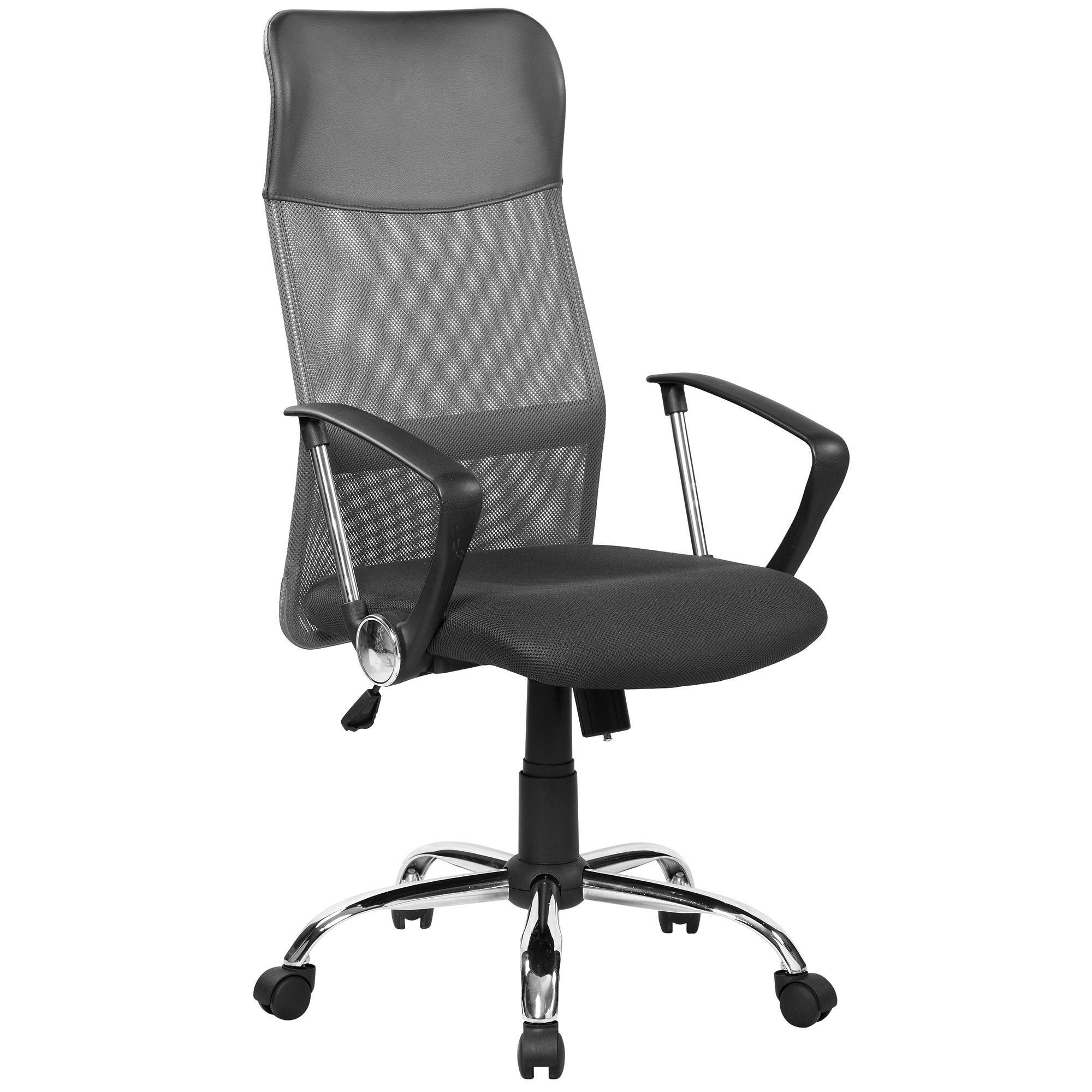 Kring Fit Ergonomikus irodai szék, Hálós, FeketeSzürke eMAG.hu