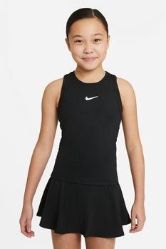 Nike, Топ за тенис Dri-FIT Victory с изрязан гръб, Черен