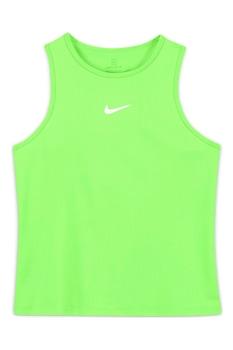 Nike, Топ за тенис Dri-FIT Victory с изрязан гръб, Лайм