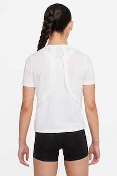 Nike, Тениска Dri-Fit Instacool с релеф, Бял / Праскова