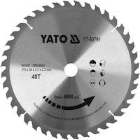 Карбиден диск за циркуляр Yato, за рязане на дърво, Ф 315 x 30, T 40