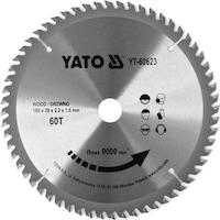 Карбиден диск за циркуляр Yato, за рязане на дърво, Ф 185 x 20, T 60