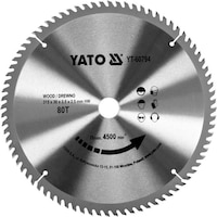Карбиден диск за циркуляр Yato, за рязане на дърво, Ф 315 x 30, T 80