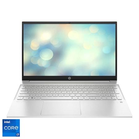 "Laptop HP Pavilion 15-eg0064nq cu procesor Intel® Core™ i7-1165G7 pana la 4.70 GHz, 15.6"", Full HD, 16GB, 512GB SSD, Intel® Iris® Xᵉ Graphics, Free DOS, Natural Silver"