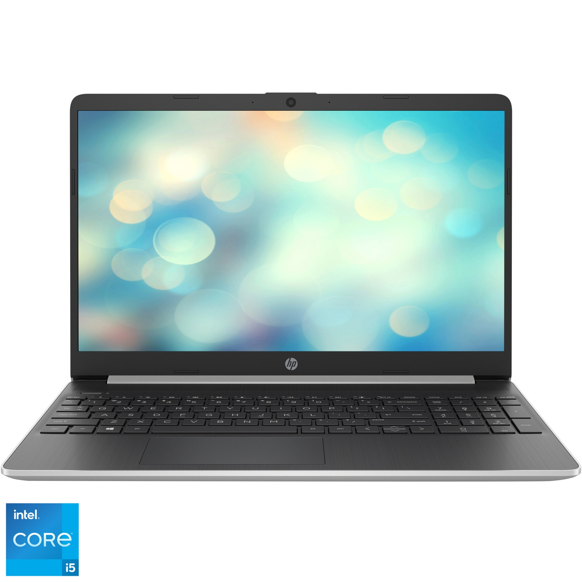 "Fotografie Laptop HP 15s-fq2013nq cu procesor Intel® Core™ i5-1135G7 pana la 4.20 GHz, 15.6"", Full HD, 8GB, 512GB SSD, Intel® Iris® Xᵉ Graphics, Free DOS, Natural Silver"
