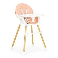 EcoToys 2-az-1-ben etetőszék gyerekeknek, biztonsági övvel és levehető tálcával, 20kg, rózsaszín
