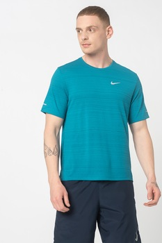 Nike, Miler Dri-FIT futópóló fényvisszaverő részlettel, Zöld/Szürke