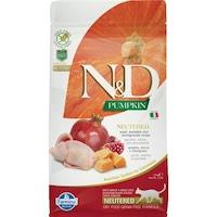 Суха храна за котки N&D sterilised, Pumpkin, пъдпъдък, тиква и нар, 5 kg