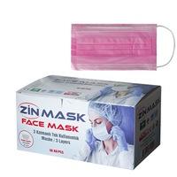 Медицински маски за лице Zinmask, Еднократни, 50 броя, Розов