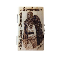 Caseta suvenir, Artizanat Ilsaf, Vlad Tepes - Dracula, 9x6x5 cm