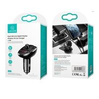 Usams CC115GC01 Dupla USB-s szivargyűjtó töltő és FM transzmitter