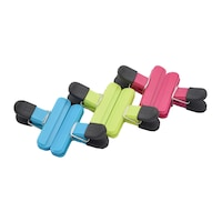 Set 6 clipsuri pentru pungi, Naimeed D385, culoare Albastru / Verde / Roz