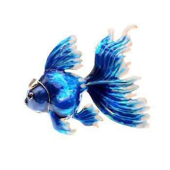 Brosa aurie, peste albastru, Peternilla C4, Pursehuit