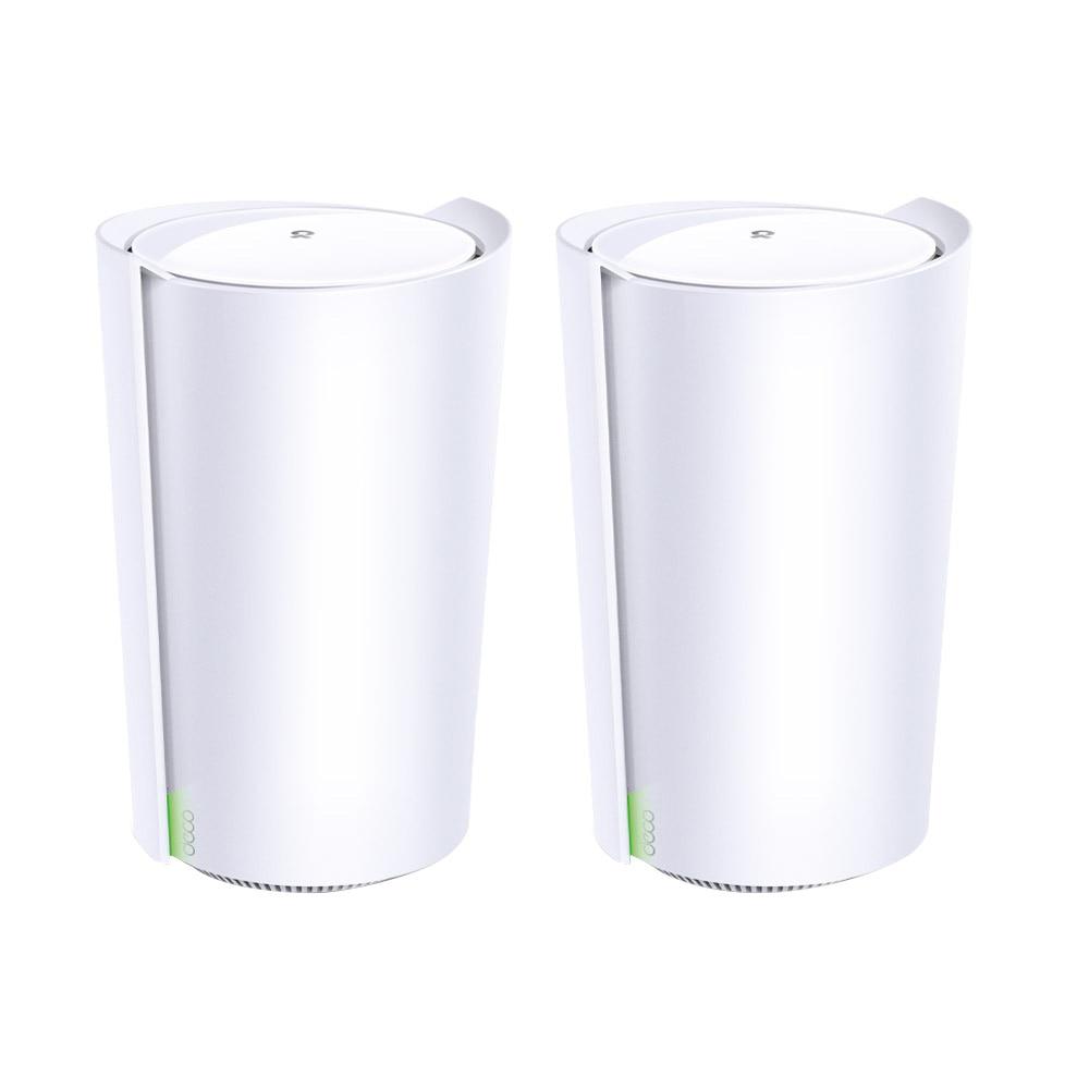 Fotografie Sistem Wi-Fi Mesh TP-Link Deco X90(2-pack), AX6600, Gigabit, Wi-fi 6, MU-MIMO, cu acoperire completa pentru casa