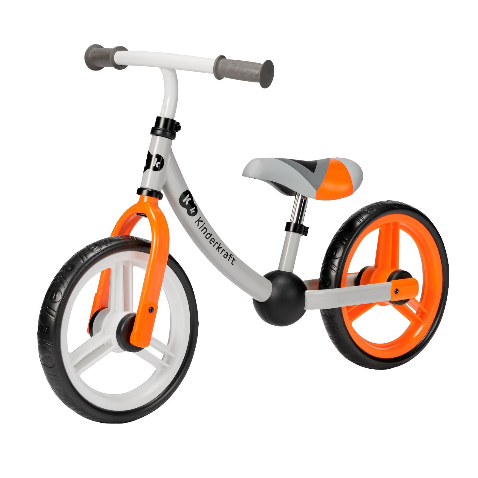 "Fotografie Bicicleta fara pedale Kinderkraft - 2Way Next, portocaliu, 12"""