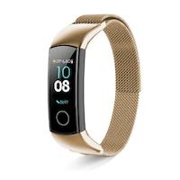 Huawei Honor Band 5 cserélhető színes acél pótszíj (Arany)