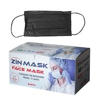 Медицински маски за лице Zinmask, Еднократни, 50 броя, Черен