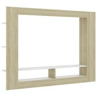 vidaXL fehér és sonoma-tölgy forgácslap TV-szekrény 152 x 22 x 113 cm