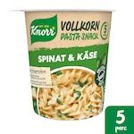 KNORR Snack Teljeskiörlésű tészta Spenótos-sajtos, 60g