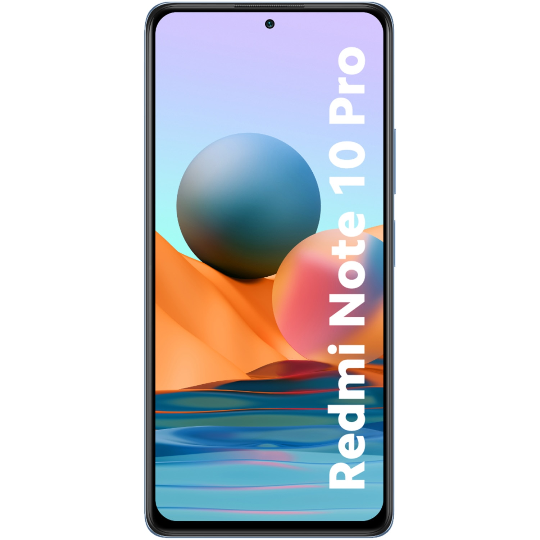 Fotografie Telefon mobil Xiaomi Redmi Note 10 Pro, Dual SIM, 64GB, 6GB RAM, 4G, Glacier Blue