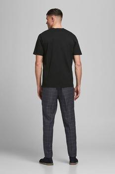 Jack&Jones, Normál fazonú organikuspamut póló, Fekete
