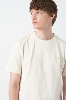Jack&Jones, Normál fazonú organikuspamut póló, Törtfehér